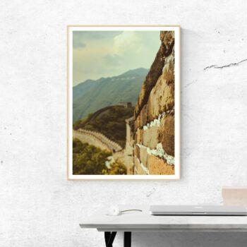 the wall kinesiska muren poster