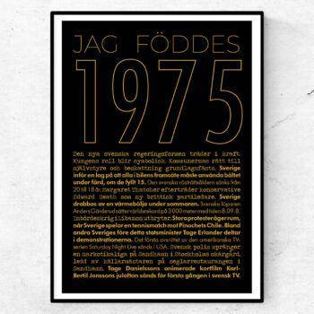 1975 guld poster