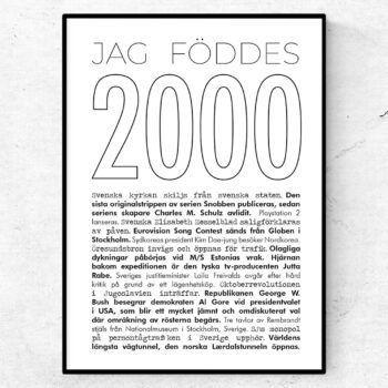 2000 linje poster