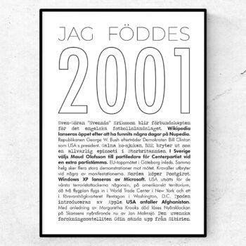 2001 linje poster
