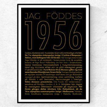 1956 guld poster