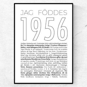1956 linje poster