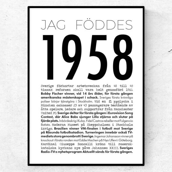 1958 modern poster