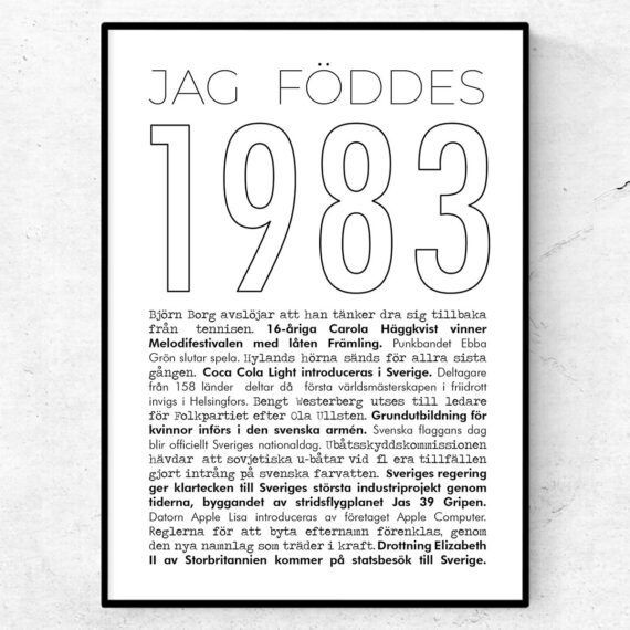1983 linje poster