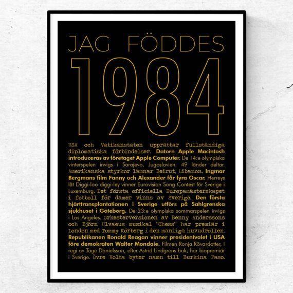 1984 guld poster