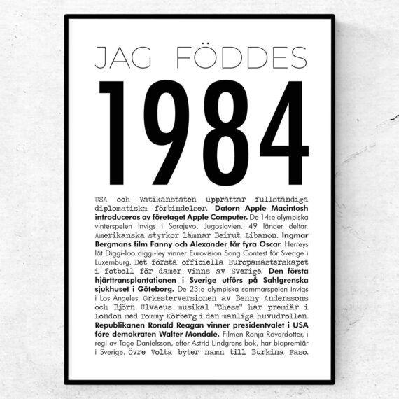 1984 modern poster