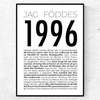 1996 modern poster