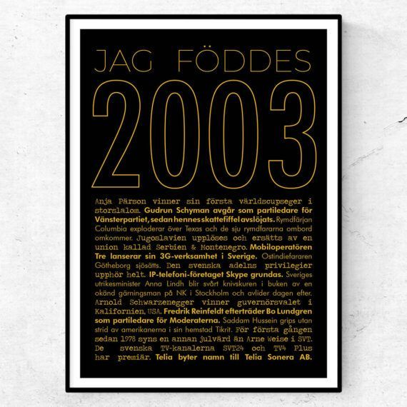 2003 guld poster