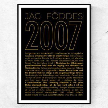 2007 guld poster