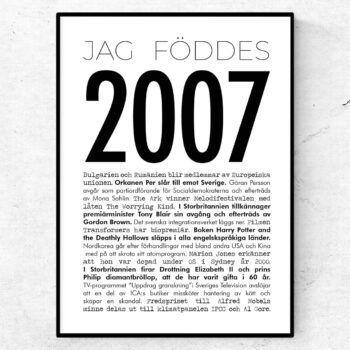 2007 modern poster