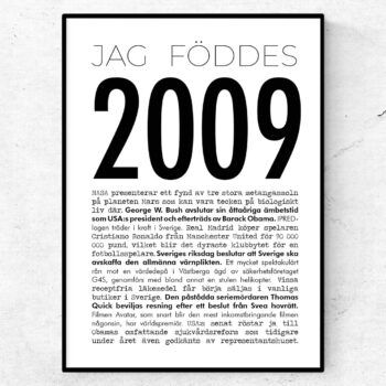 2009 modern poster
