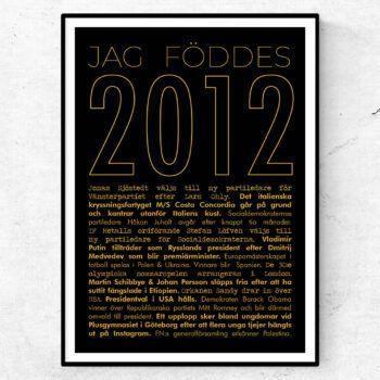 2012 guld poster