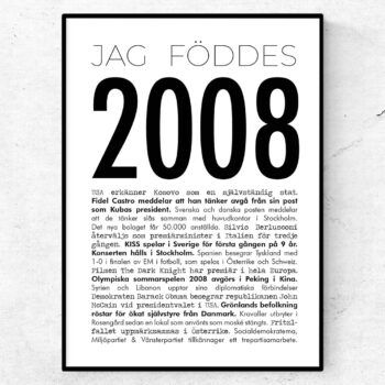 2008 modern poster