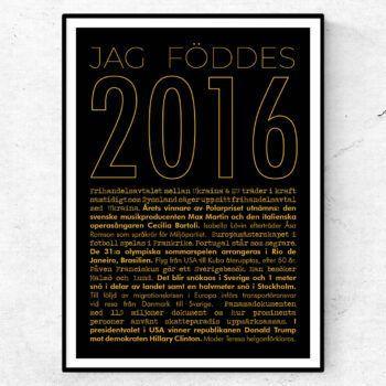 2016 guld poster