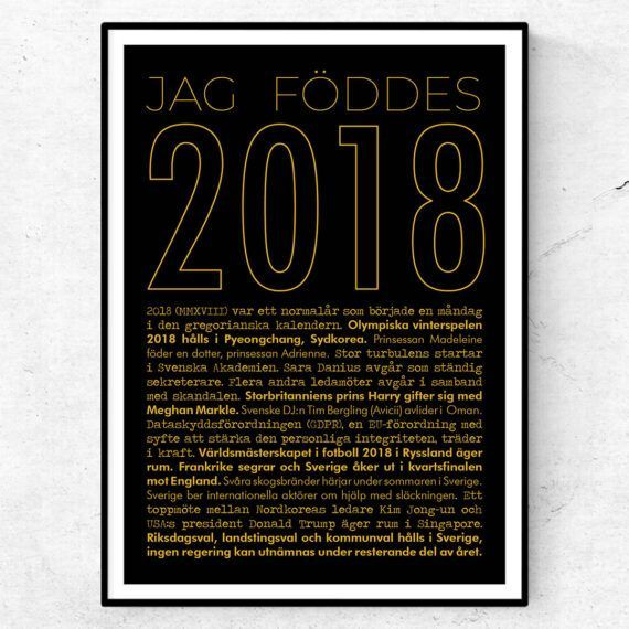 2018 guld poster
