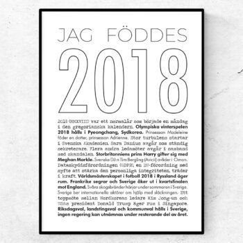 2018 linje poster