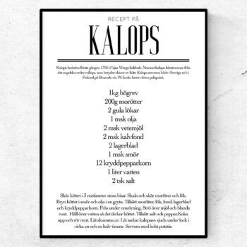 Kalops recept poster