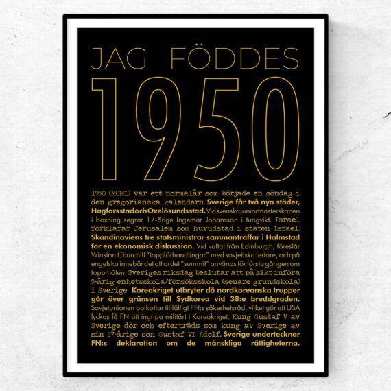 1950 guld poster