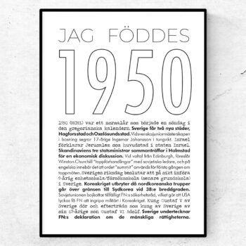 1950 linje poster