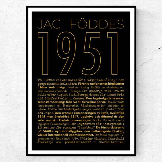 1951 guld poster