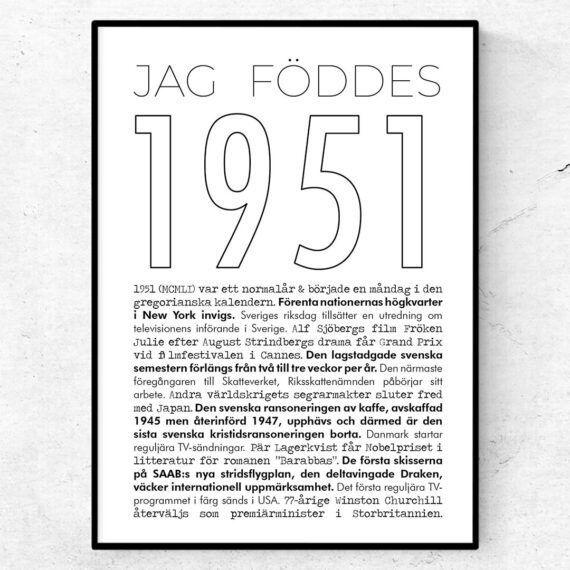 1951 linje poster