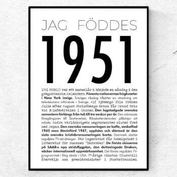 1951 modern poster